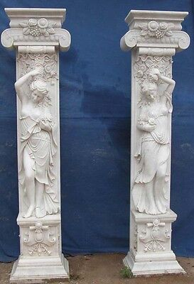 Nice Hand Carved Art Nouvea Marble Columns Mc65