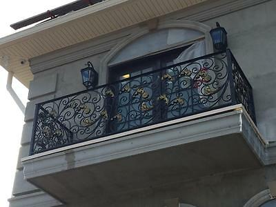 The Best Hand Made Wrought Iron Victorian Style Estate Railing - Rk2