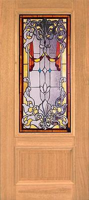 Beautiful Stained Glass Custom Entry Or Interior Door - Jhl150