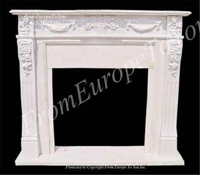 Hand Carved Marble Classical Fireplace Mantel Tle36