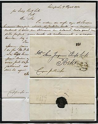 GB to PORTUGAL MOURNING LETTERSHEET 1860 CONSIGNEE 220 ACCOUNTANCY