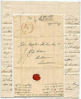 GB 1833 LONG LETTER from ELIZABETH JANE AUSTEN