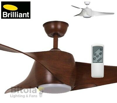 """New Brilliant Wing 50"""" Ceiling Fan With Led Light And Remote Control - 3 Blade"""