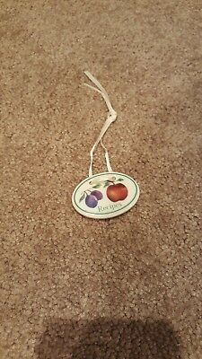 """recipes"" fruit medley basket charm tie-on"