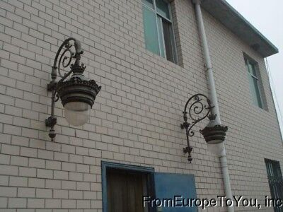 Large Victorian Style Cast Iron Outdoor Sconces #10
