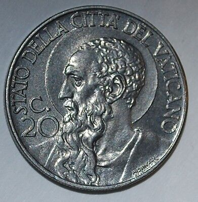 BU Vatican city 20 centimes 1941-----m 55