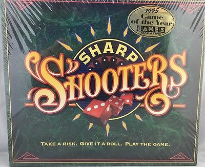 Vintage 1994 Sharp Shooters Dice Board Game by Milton Bradley New Sealed
