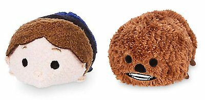 Mini Disney Tsum Tsum Plush Star Wars Bundle Set of 2 Tsums- Chewbacca The and