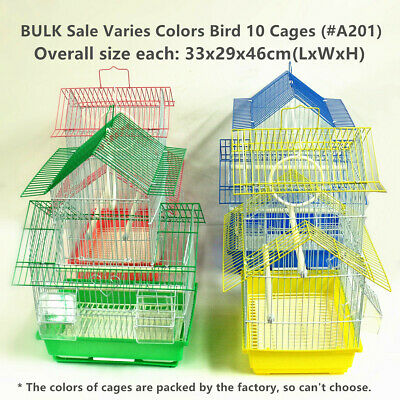 New BULK Sale Varies Colors Bird Cage * 10 Cages (#A112)