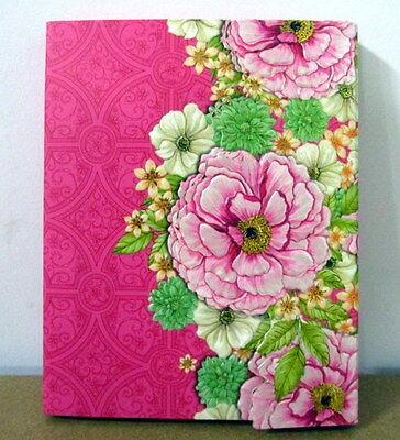 60 Sheet Purse Size Pad With Pocket & Ballpoint Pen Pretty Chrysanthemum Design