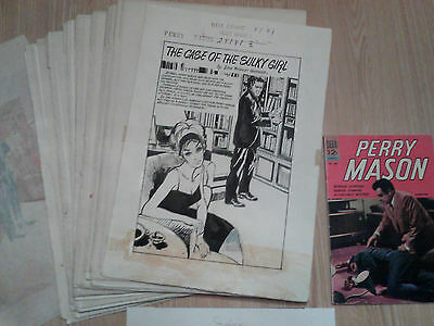 Stephen L. Addeo PERRY MASON #2 ORIGINAL ART COMPLETE 32 Page Story Dell 1964