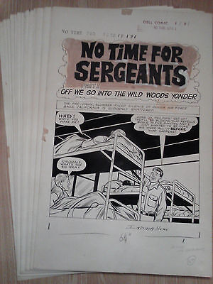 Tallarico NO TIME FOR SERGEANTS #1 ORIGINAL ART COMPLETE 32 Page Story Dell 1965