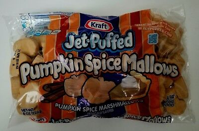 New Kraft Jet-Puffed Pumpkin Spice Marshmallows Free Worldwide Shipping