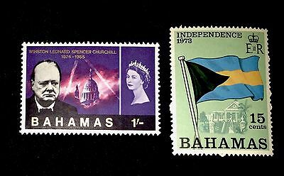 Old Bahamas Stamps 227 & 350! Churchhill Anniversary, Independence! Mint MNH