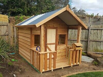 Cubby House Woodcutters Cottage Timber Play house