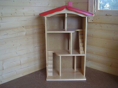 New Dolls House - Wooden 3 storey