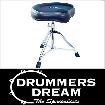 ROC-N-SOC Manual Spindle Blue Saddle Style Drum Throne / Stool  BAND NEW