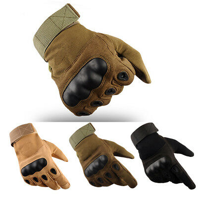 Men Military Army Tactical Gloves Hard Knuckle Motorcycle Cycling Sports Gear