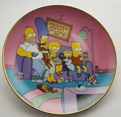 The Simpsons Commemorative Limited Edition Plate Vintage 1991
