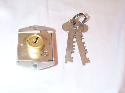 LOCK Yale 2 FLAT keys brand NEW CABINET DOOR DRAWER  DESK OLD