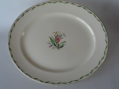 Vintage Burleigh English Floral & Green Platter