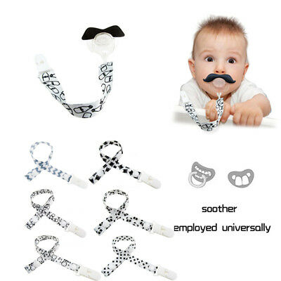 Baby Kids Boy Girl Dummy Pacifier Soother Chain Clip Holders Nipple Leash Strap