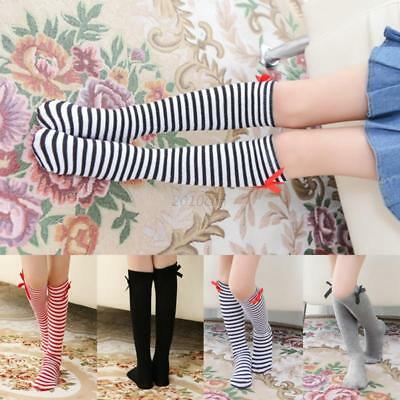 Toddlers Kids Knee High Socks For Age3-12 Baby Girls Tights Leg Warmer Stockings
