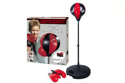 Kid Pretend Toy Speed Training Punching Ball Glove Stand Boxing Set (90-130cm)