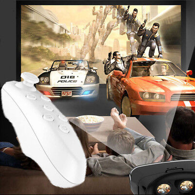 Mini Bluetooth VR BOX 3D Glasses Remote Control Mobile Game For  iPhone Phone PC