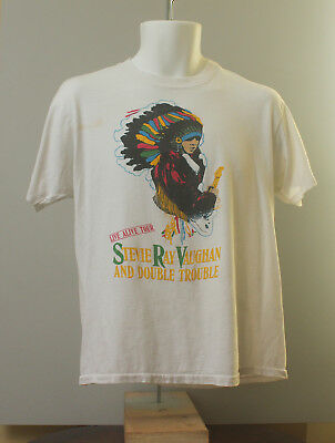 1987 Live Alive Indian Headdress Shirt Stevie Ray Vaughan Double Trouble!