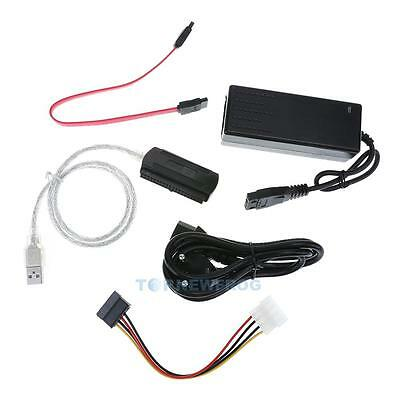 SATA/PATA/IDE Drive to USB 2.0 Converter Cable for HDD with External Power