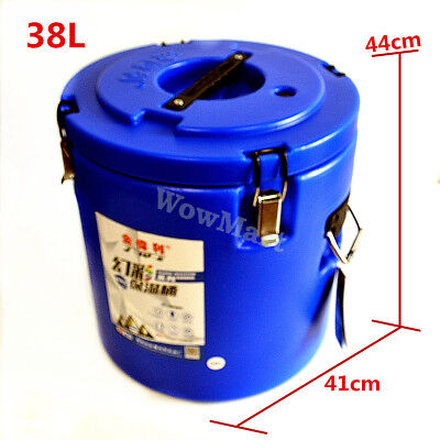 Commercial Camping Insulation Stainless Steel Tank Cooler Warmer Food Barrel 38L