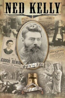 "NED KELLY: SUCH IS LIFE - COLLAGE - 91 x 61 cm 36 x 24"" POSTER x"