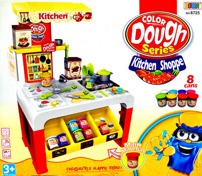 NEW Kid Pretend Toy Play Color Dough Soft Clay Plasticine Kitchen (#8725) >32pcs