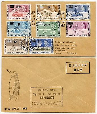 ANTARCTIC BAT 1973 BASE Z HALLEY BAY CAIRD COAST SURCHARGES 8 values