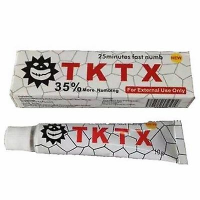 Tattoo White TKTX 35% More Numbing Cream 25mins Super Fast Numb 10g New Hot