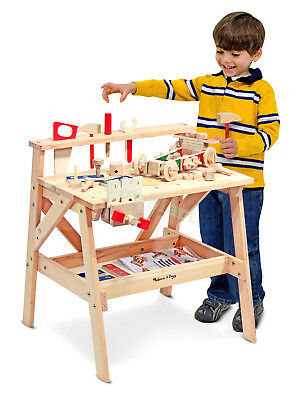 Kid DIY Pretend Toy Melissa & Doug Wooden Toy Carpenter Project Tool Work bench