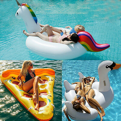 New Giant Inflatable Water Float Raft Swimming Pool Lounger Beach Fun Sports UK