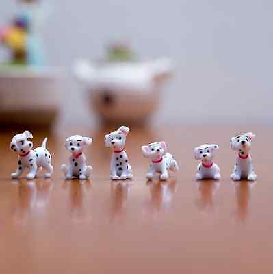 Free shipping 6pcs/set Lovely dalmatians figure Mini series toys About 2.5cm