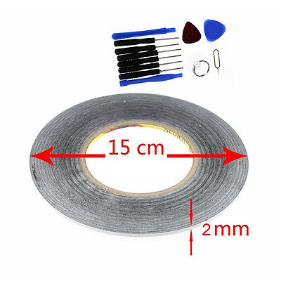 2mm black For 3M Sticker Double Sided Tape Adhesive cell phone repair +tools USA