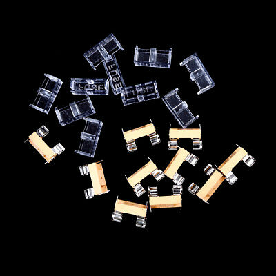 10pcs  glass fuse holder transparent holder with cover fuse blocks Chic 5*20mm
