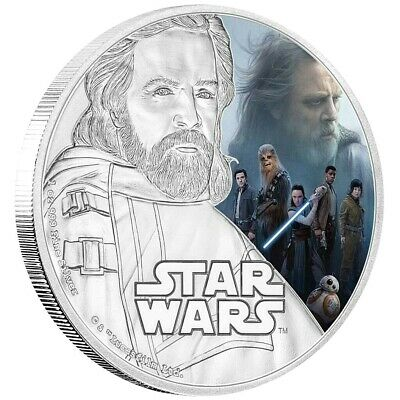 Niue 2 Dollar 2017 The Last Jedi Luke Skywalker Star Wars 1