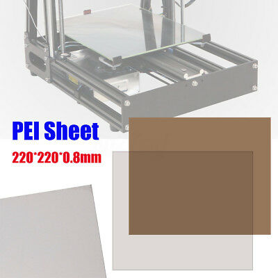 220*220*0.8mm PEI Sheet Polyetherimide Build Surface 3D Printer With Adhesive