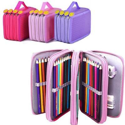 High Capacity Holder Stationary Makeup Pouch Pencil Case Pen Box Storage Bag CB