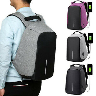Anti-Theft Laptop USB Port Water Repellent Backpack School Bag Camera 1 Pcs