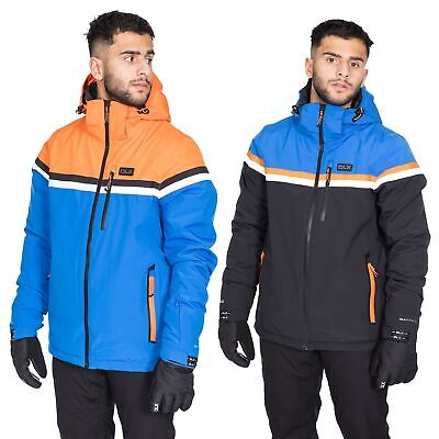 Trespass Niven Mens DLX Waterproof Ski Jacket Hooded Insulated Stretch Snow Coat