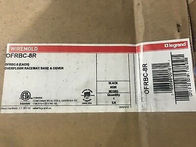 NEW WIREMOLD  / LEGRAND OFRBC-8R WM OFR Base and Cover Blk