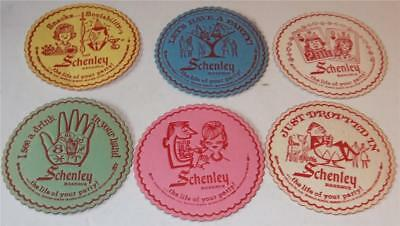 Vintage Schenley Whiskey Paper Coasters Lot