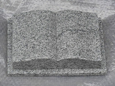 "Buch Granit ""Viscont White"" 30 x 20 x 8 cm / Grabstein"