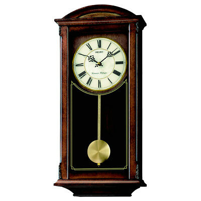 Seiko Analogue Pendulum Wall Clock, Westminster & Whittington Chimes, MDF Case